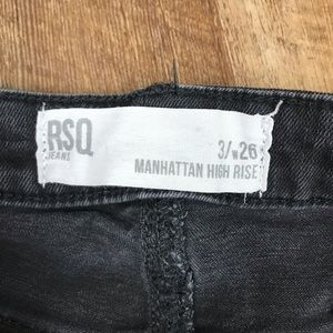 RSQ Jeans - RSQ Manhattan High Rise Distressed Black Jeans 3